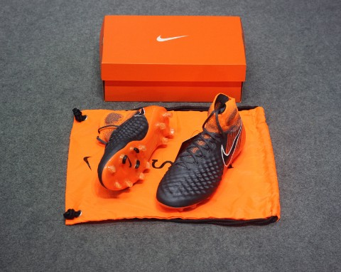 Nike Magista Obra 2 Elite DF FG Fast AF - Dark Grey/Black/Total Orange