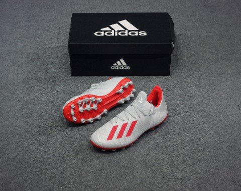 adidas X 19.3 AG 302 Redirect - Silver Metallic/High Risk Red