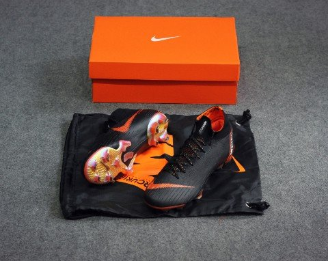 Nike Mercurial Superfly 6 Elite FG Fast AF - Black/Total Orange/White