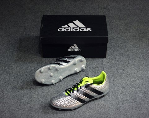 ADIDAS ACE 16.3 FG SILVER METALLIC/CORE BLACK/SOLAR YELLOW