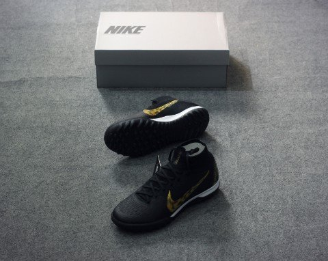 Nike Mercurial SuperflyX 6 Elite TF BLACK LUX  - Black/Metallic Gold