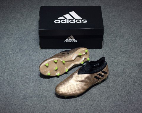 adidas Messi 16+ PureAgility FG/AG Turbocharge - Copper Metallic/Core Black/Solar Green