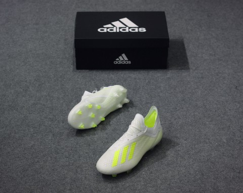 adidas X 18.1 FG Virtuso - Footwear White/Solar Yellow
