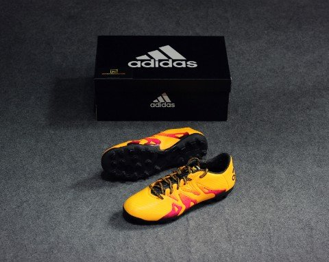 Adidas X 15.3 AG Solar Gold- Core Black- Shock Pink