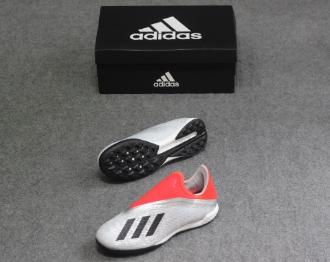 Adidas X 19.3 LACELESS TF 302 REDIRECT - SILVER/RED/BLACK