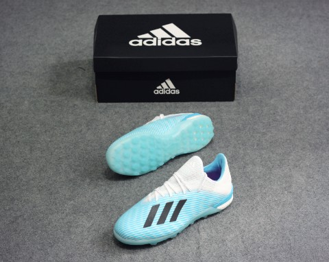 adidas X 19.1 TF Hard Wired - Bright Cyan/Core Black/Shock Pink