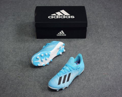 adidas X 19.3 MG Hard Wired - Bright Cyan/Core Black