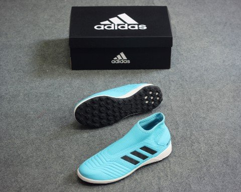 adidas Predator 19.3 TF Laceless Hard Wired - Bright Cyan/Core Black
