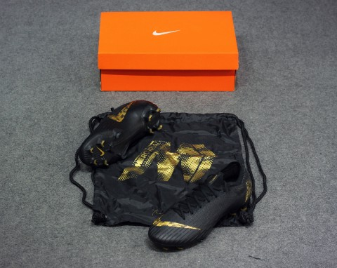 Nike Mercurial Vapor 12 Elite FG Black Lux Pack - Black/Metallic Vivid Gold