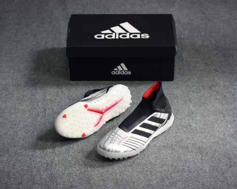ADIDAS Predator Tango 19+ TF 302 REDIRECT - Silver Metallic/Core Black/Hi-Res Red