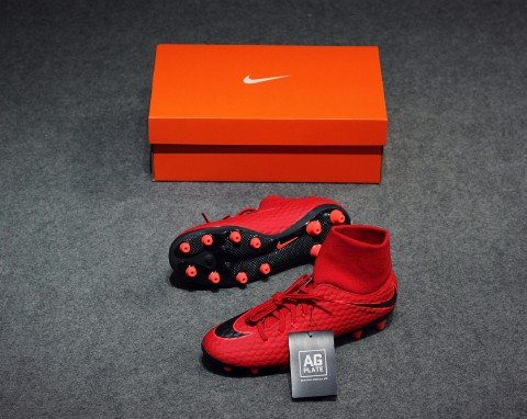 Nike Hypervenom Phelon III DF AG-PRO Fire Pack - University Red/White