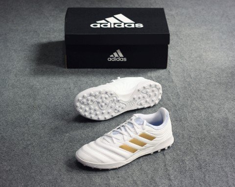 Adidas Copa 19.3 TF Input Code - Footwear White/ Gold Metallic/ Football Blue