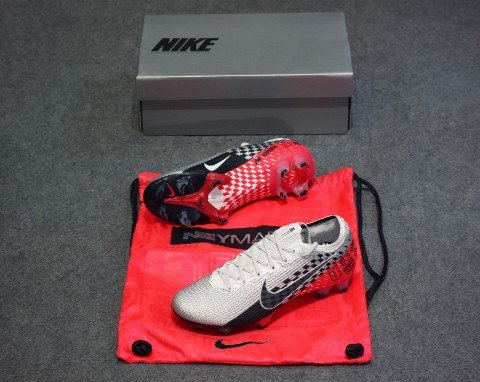 NIKE MERCURIAL VAPOR 13 ELITE FG NJR SPEED FREAK - CHROME/BLACK/RED ORBIT