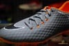 NIKE HYPERVENOM PHANTOMX 3 ACADEMY FG FAST AF - DARK GREY/TOTAL ORANGE/WHITE