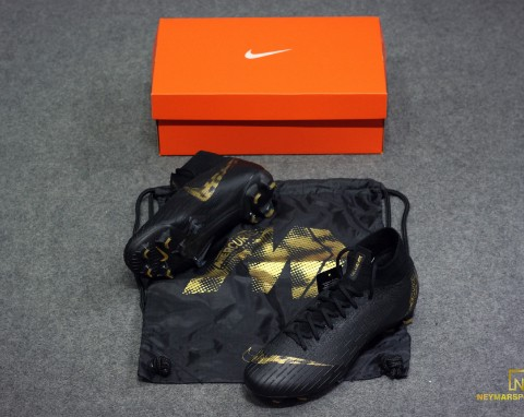 NIKE MERCURIAL SUPERFLY 6 ELITE FG BLACK LUX PACK - BLACK/METALLIC VIVID GOLD