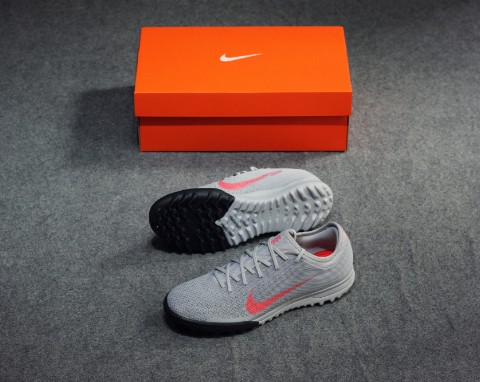 Nike Mercurial VaporX 12 Pro TF Raised On Concrete - Wolf Grey/Light Crimson