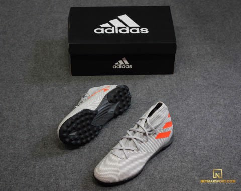 adidas Nemeziz 19.3 TF Encryption - Grey Two/Solar Orange/Core White