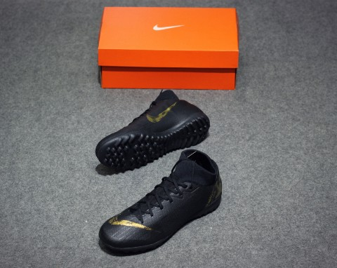 Nike Mercurial Superfly VI Academy TF Black Lux Pack - Black/Metallic Gold