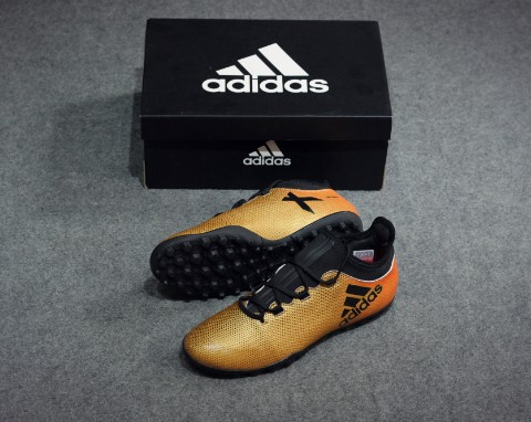 adidas X Tango 17.3 TF Skystalker - Tactile Gold Metallic/Core Black/Solar Red