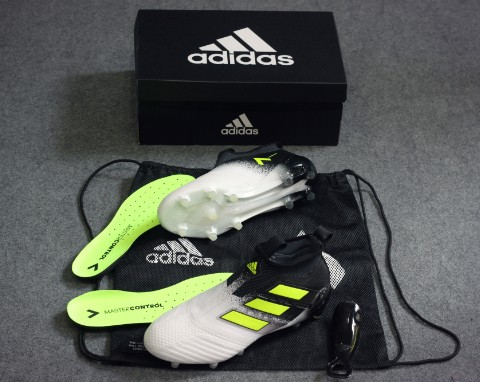 adidas ACE 17+ PureControl FG Dust Storm - Footwear White/Solar Yellow/Core Black