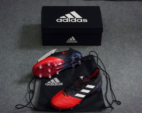 adidas ACE 17.1 Leather FG/AG Red Limit - Core Black/Feather White/Red