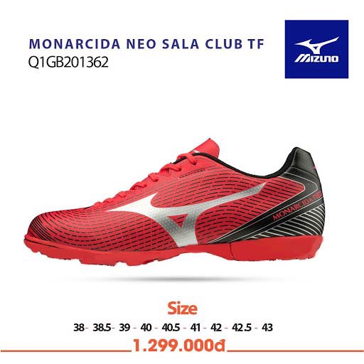 Mizuno Monarcida NEO SALA CLUB TF Red/White/Black