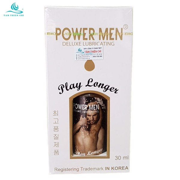 Gel bôi trơn Powermen Longer Plus chai 30ml