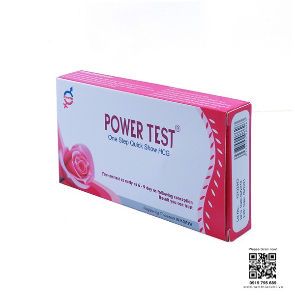 Que thử thai hCG Powertest, hộp 1 test