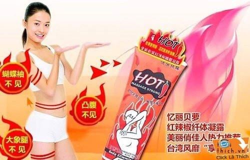 Kem Tan Mỡ Bụng Hot Body Slimming Massage Gel