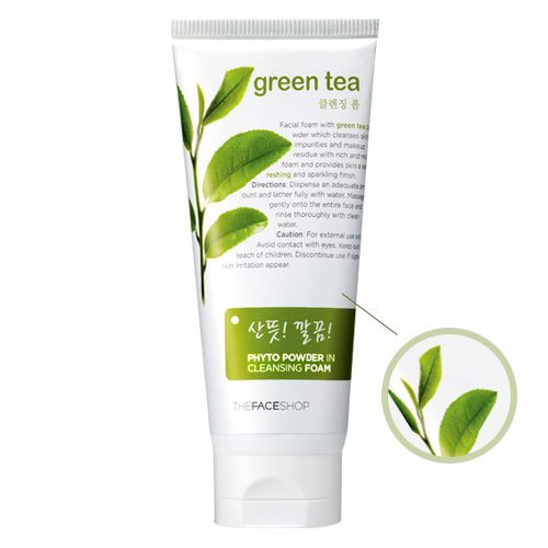 sữa rửa mặt the face shop green tea 170ml