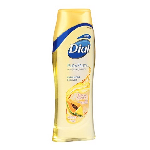 Sữa Tắm Dưỡng Da Dial Pura Fruta Exfoliating Papaya & Pineapple Body Wash 473ml