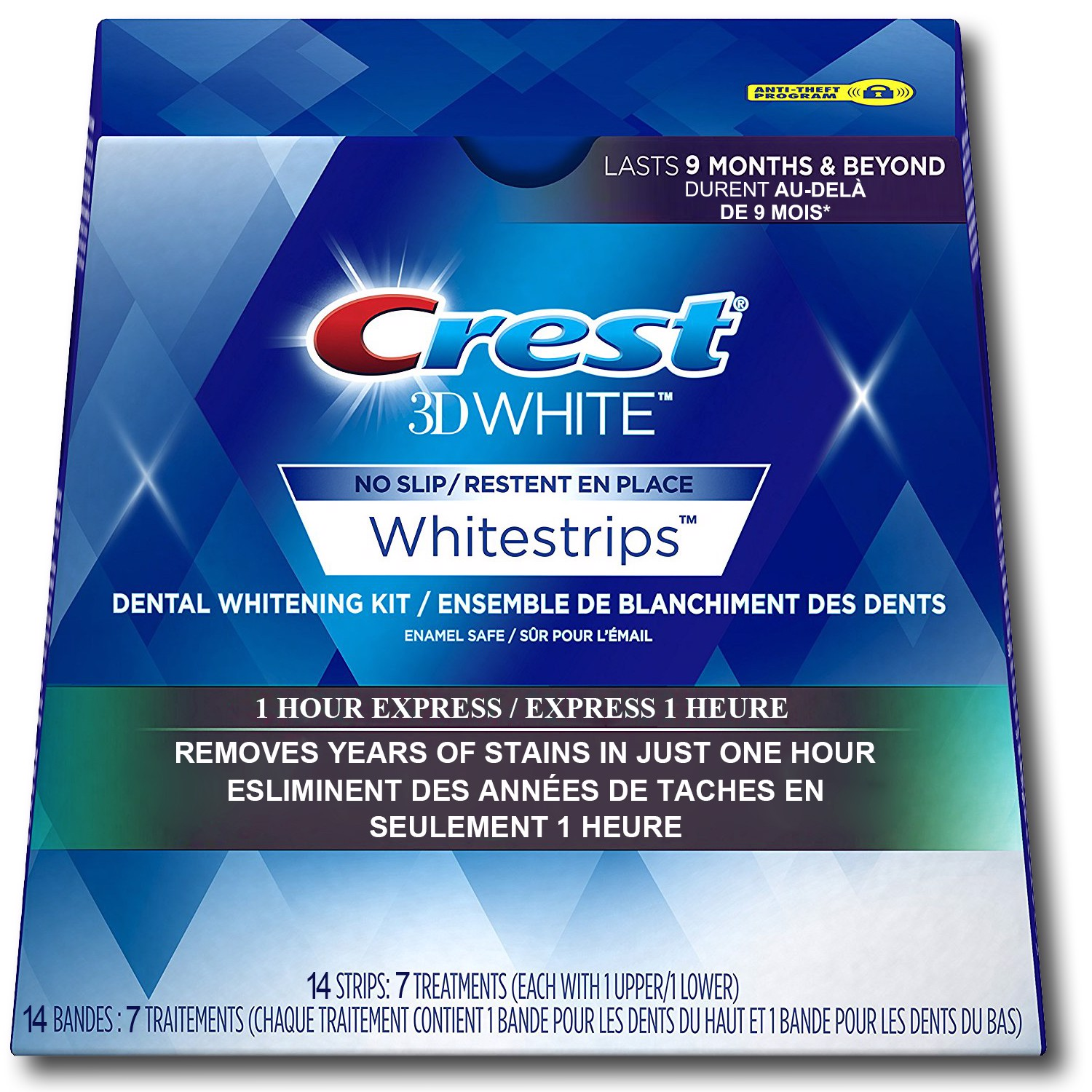 Crest 3D Whitestrips 1 Hour Express 14 Strips