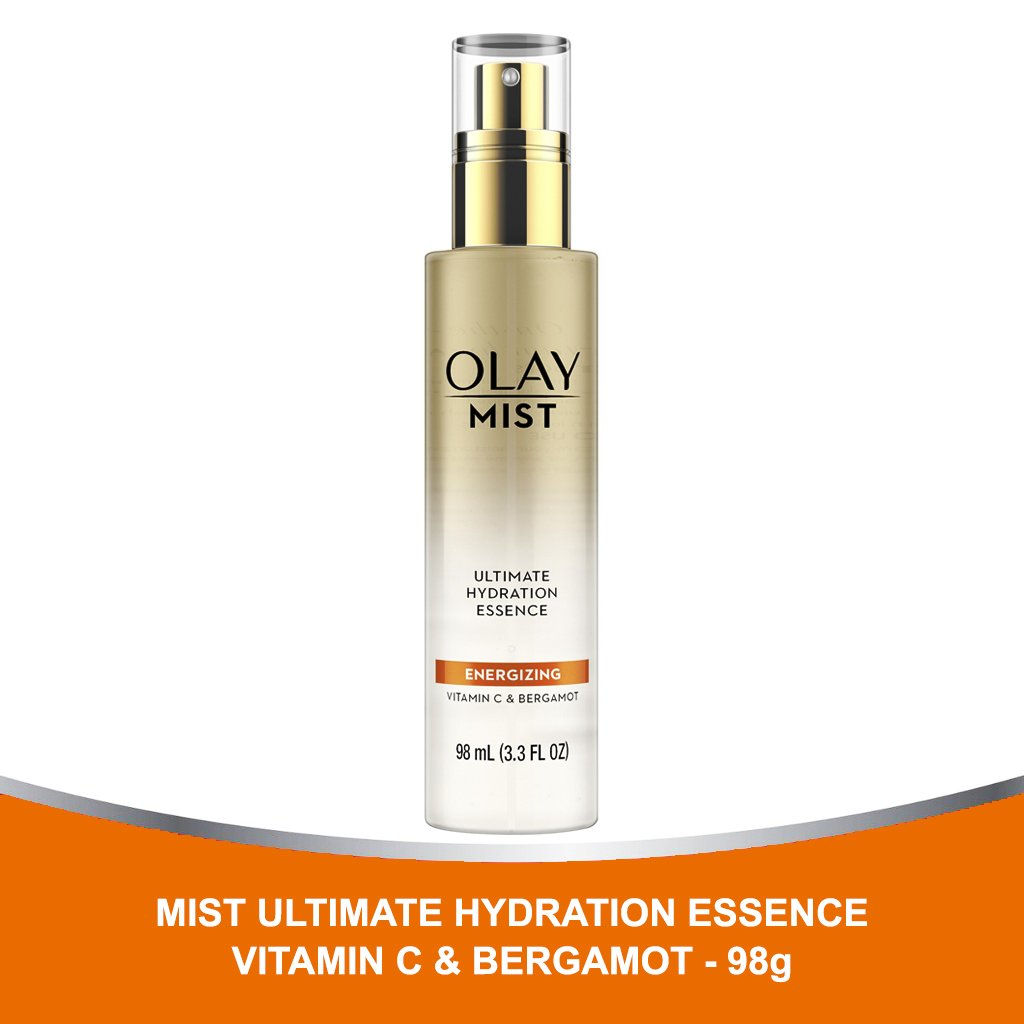 Xịt Khoáng Olay Mist Ultimate Hydration Essence Energizing With Vitamin C & Bergamot 98ml