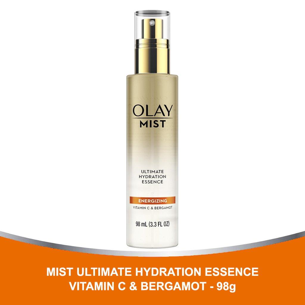 Olay Mist Ultimate Hydration Essence Energizing With Vitamin C & Bergamot 98ml