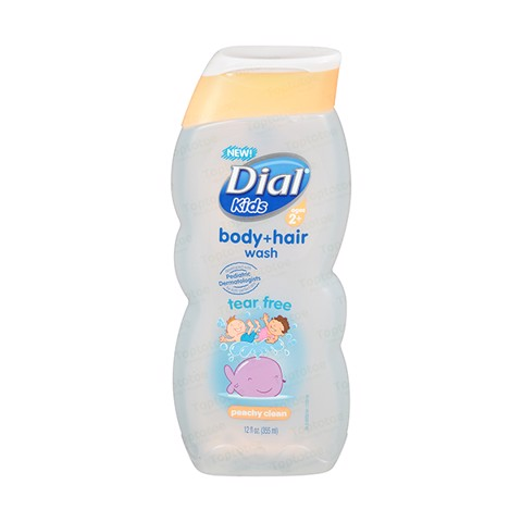 Sữa Tắm Gội Trẻ Em Dial Kids Body Hair Wash - Peachy Clean 355ml.