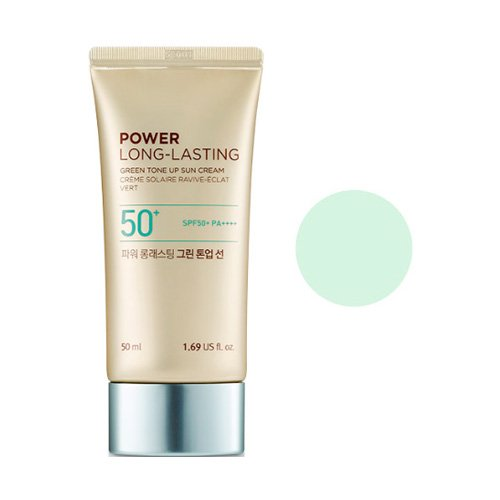 Kem Chống Nắng Nâng Tone & Lâu Trôi Thefaceshop Natural Sun Eco Power Long Lasting Green Tone Up Sun Cream SPF50+ PA++++ 50ml