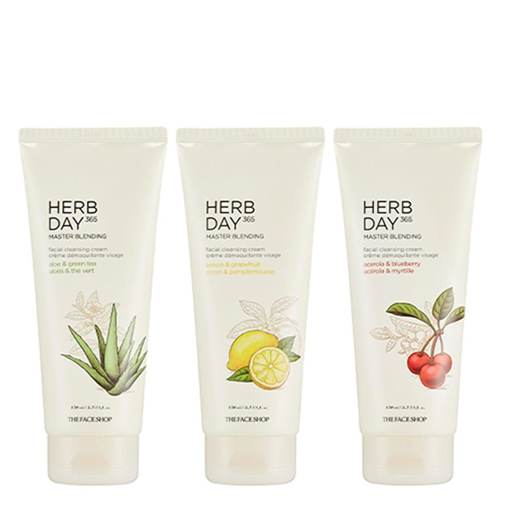 Kem Tẩy Trang Thefaceshop Herb Day 365 Master Blending Facial Cleansing Cream Lemon & Grapefruit 170ml