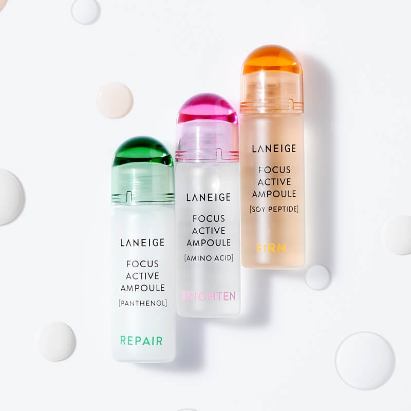 Tinh Chất Cô Đặc Dưỡng Trắng Da Laneige Focus Active Ampoule Amino Acid - Brightening Skin 7mlx4