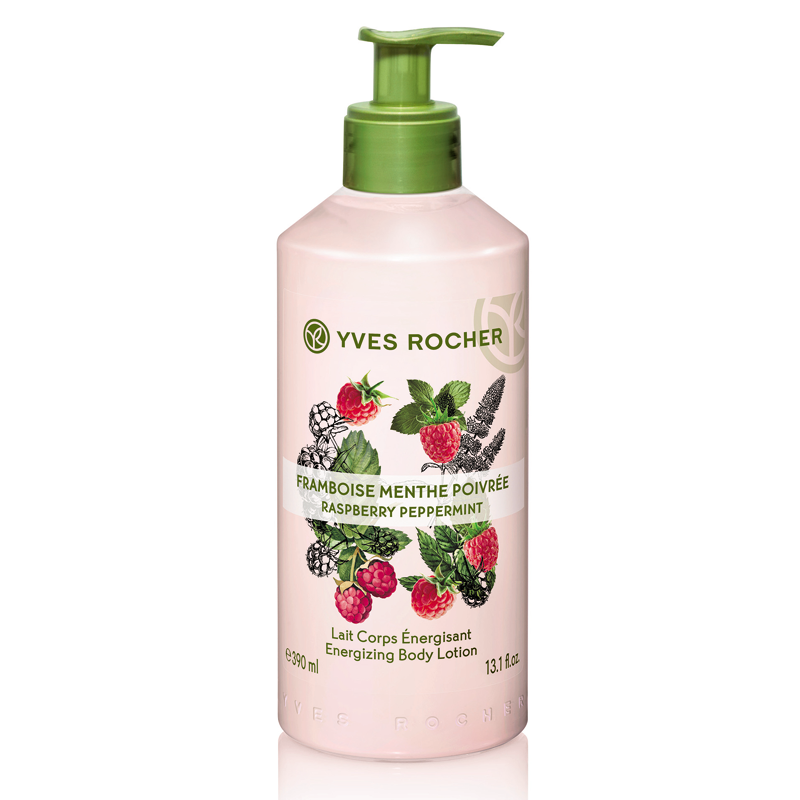 Sữa Dưỡng Thể Yves Rocher Raspberry Peppermint Energizing Body Lotion 390ml