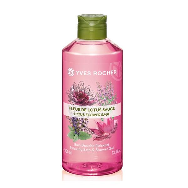 Sữa Tắm Hương Hoa Sen Thanh Khiết Yves Rocher Lotus Flower Sage Shower Gel 400ml