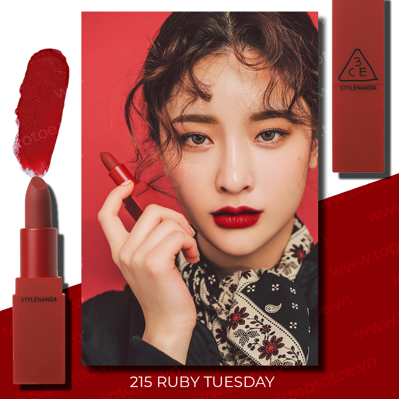son-thoi-3ce-red-recipe-lipstick-215-ruby-tuesday-do-lanh