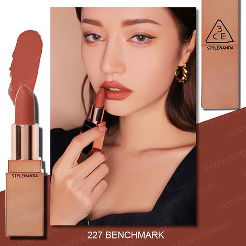 son-thoi-li-3ce-matte-lip-color-227-benchmark-cam-dat