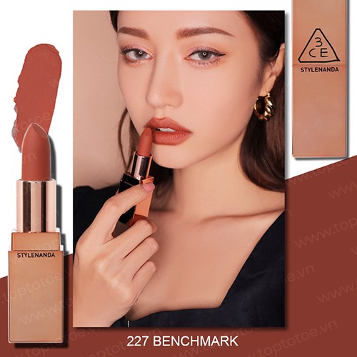 Son Thỏi Lì 3CE Matte Lip Color #227 Benchmark