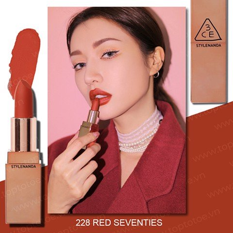 Son Lì 3CE Matte Lip Color #228 Red Seventies