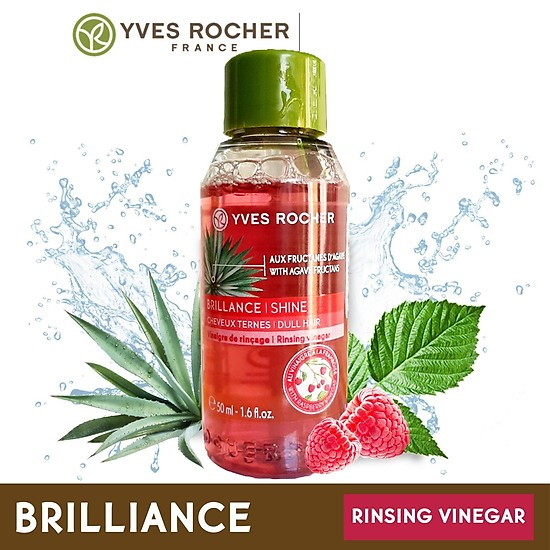 Giấm Xả Tóc Yves Rocher Shine Rinsing Raspberry Vinegar 50ml