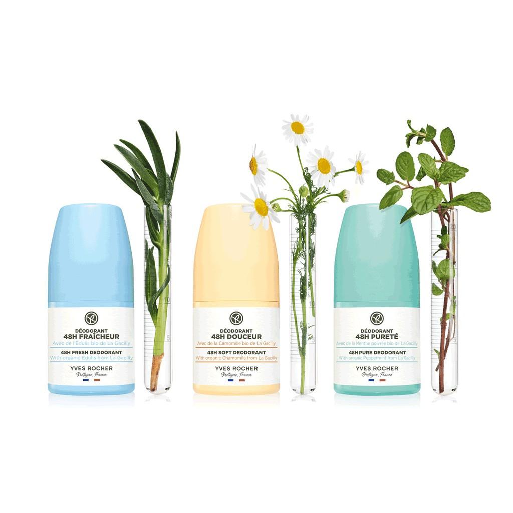 Lăn Khử Mùi Hữu Cơ Yves Rocher 48H Fresh Dedorant 50ml