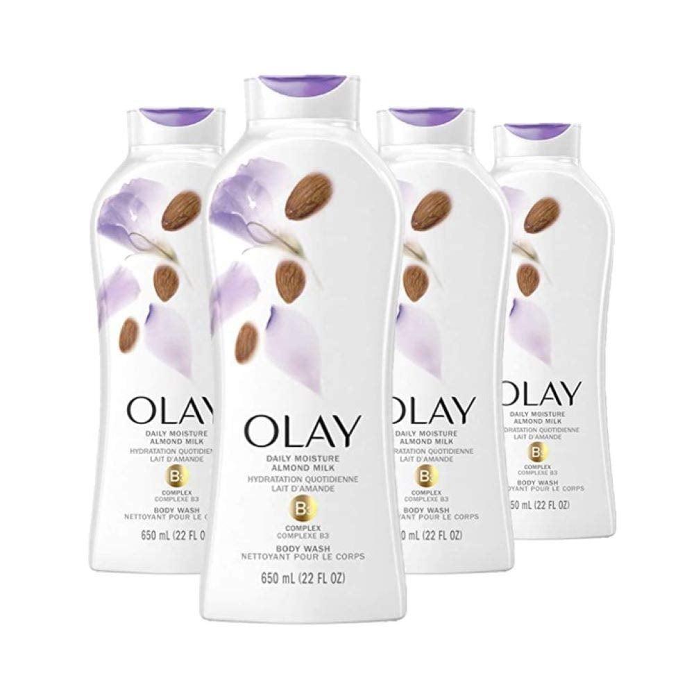 Sữa Tắm Olay Daily Moisture Almond Milk B3 Complex Body Wash 650ml