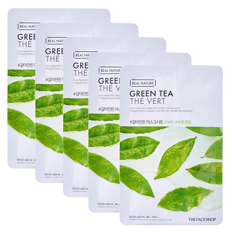 mat-na-giay-thefaceshop-real-nature-green-tea-face-mask-20g