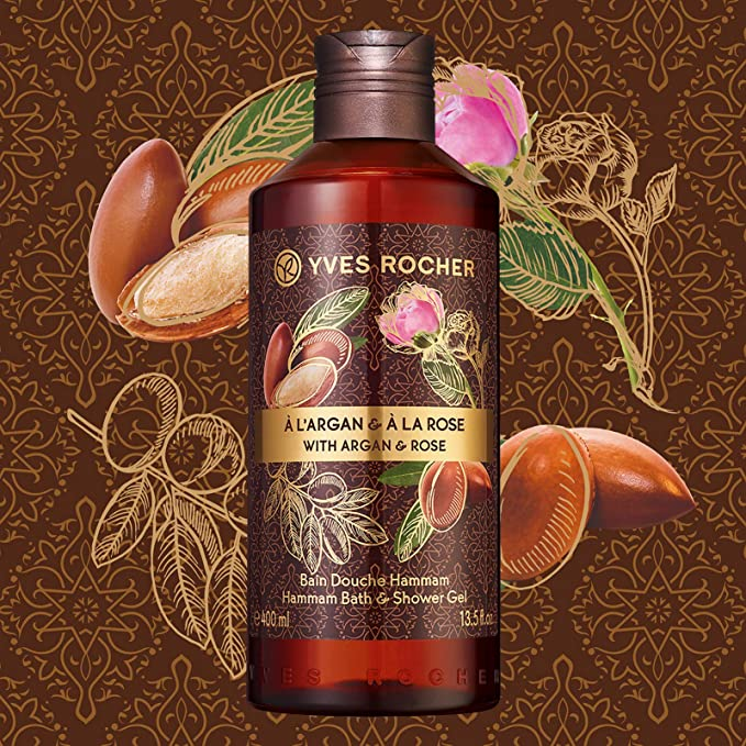Gel Tắm Yves Rocher Argan Rose Hammam Bath & Shower Gel 400ml