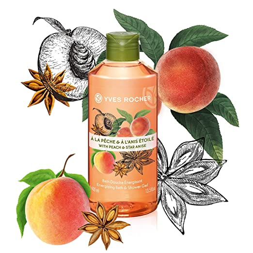 Sữa Tắm Hương Đào & Hoa Hồi Yves Rocher With Peach & Star Anise Energizing Bath & Shower Gel 400ml